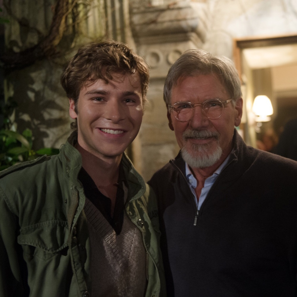 Anthony Ingruber with Harrison Ford