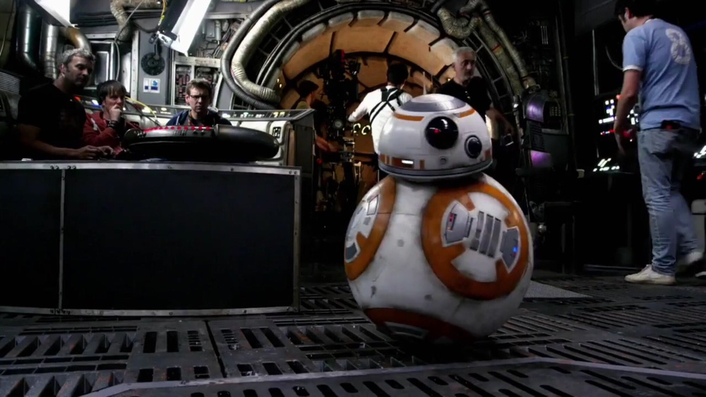 BB-8 on set