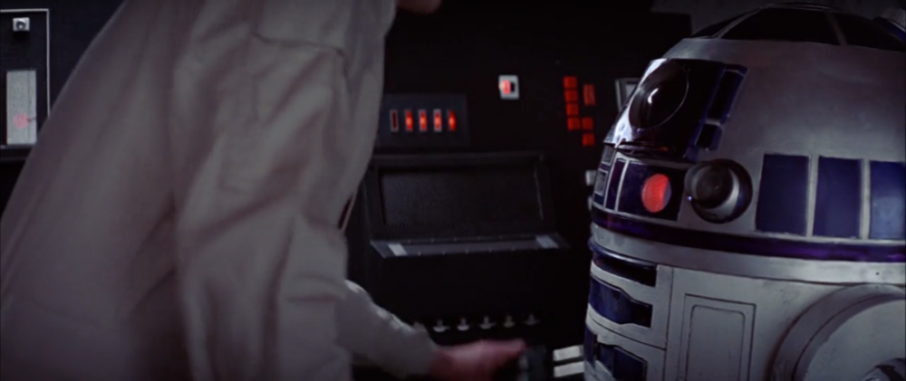 A reminder of what R2-D2's dome looks like. Projector on the left.