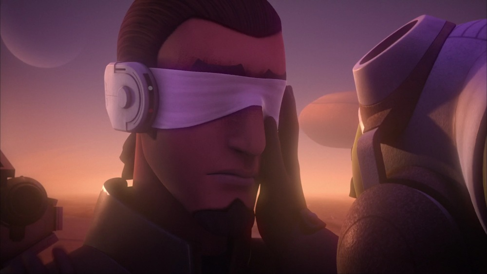 Kanan returns, blinded after his duel with Maul