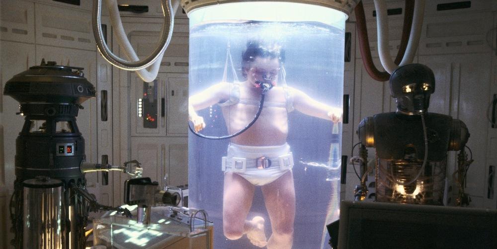 Luke in a Bacta Tank in Star Wars Episode V The Empire Strikes Back
