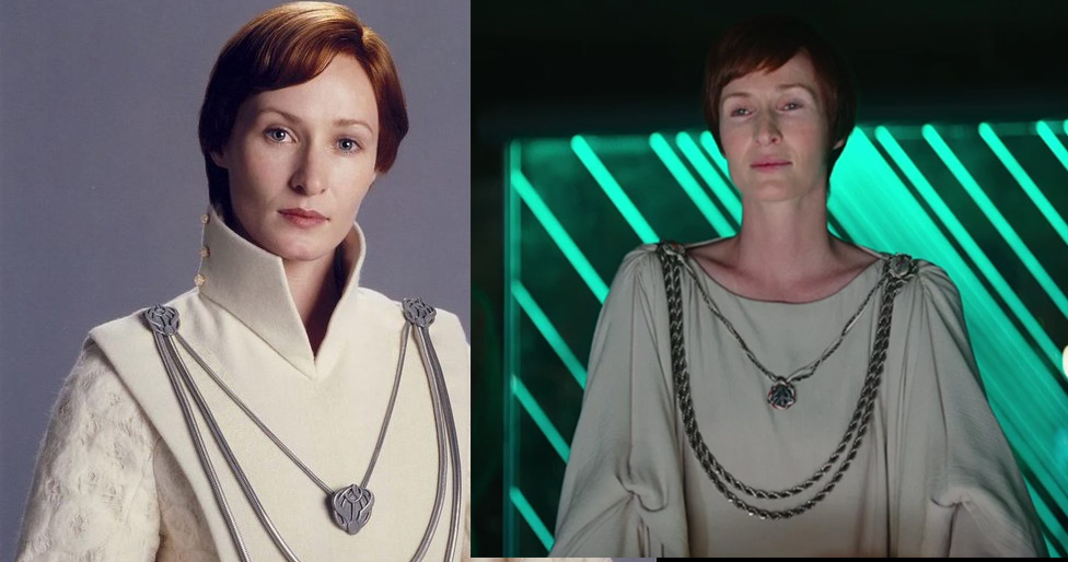 Genevieve O'Reilly as Mon Mothma in both Sith and Jedi
