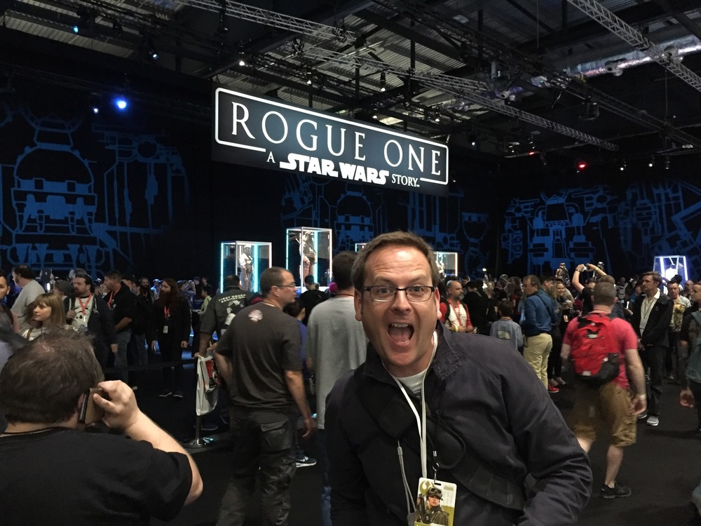 This is me getting far too excited by the Rogue One exhibition