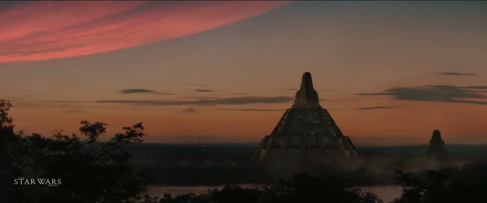 A shot of Yavin IV from Rogue One