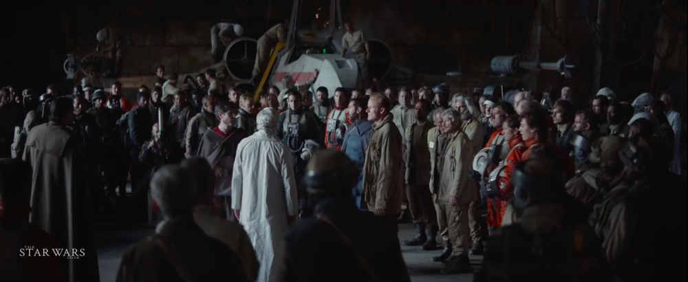 Can you see any familiar Star Wars faces the group shot?