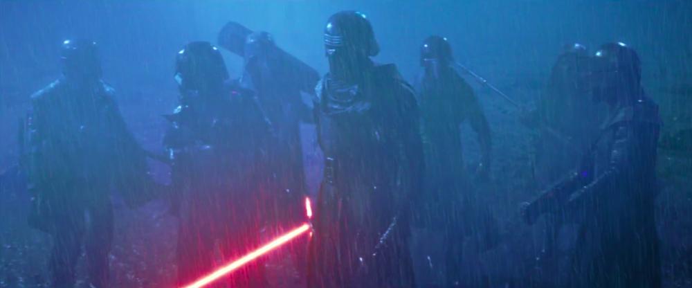 Kylo Ren - With Luke's green lightsaber...