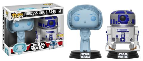 Star Wars: Holographic Princess Leia & R2-D2
