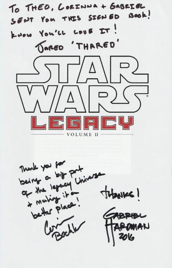 (Signed copy of Star Wars Legacy Volume II)