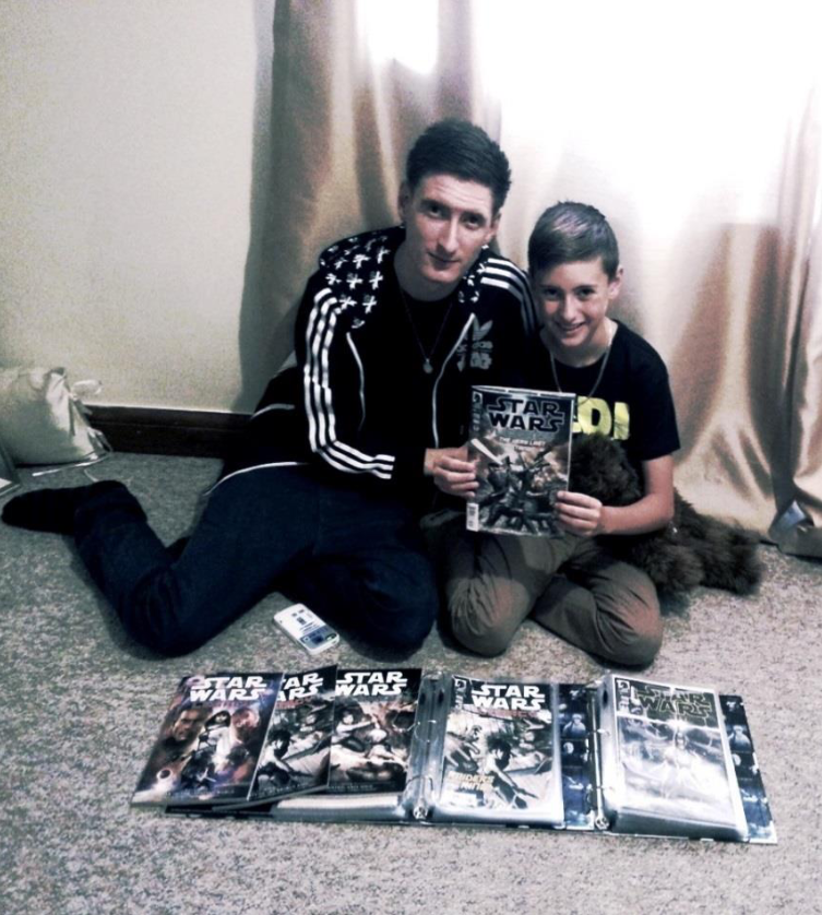 (Me and Theo with our Legacy Volume II collection)