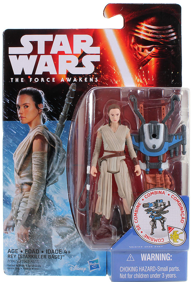 Rey (Starkiller Base) release in the first wave of 5 POA figures (Force Friday) with out a lightsaber.