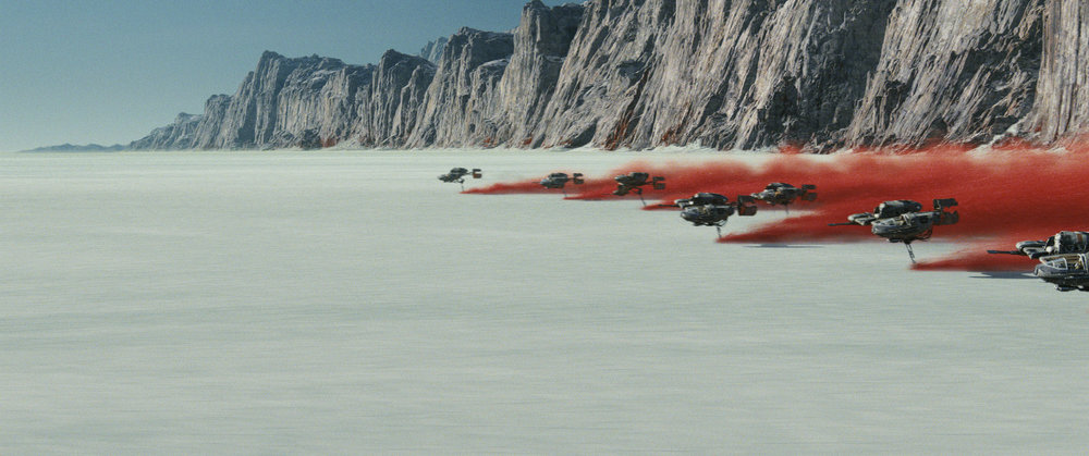 Star Wars: The Last Jedi will see the debut of the mineral planet Crait, as it becomes a battleground between the Resistance and First Order.