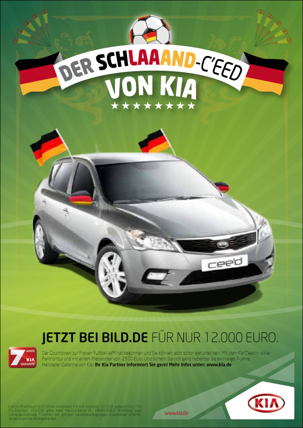 "Kia Motors Germany ""Schlaand"" Word Cup Ad Concept"