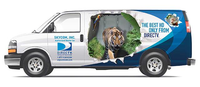 DirecTV Van wrap
