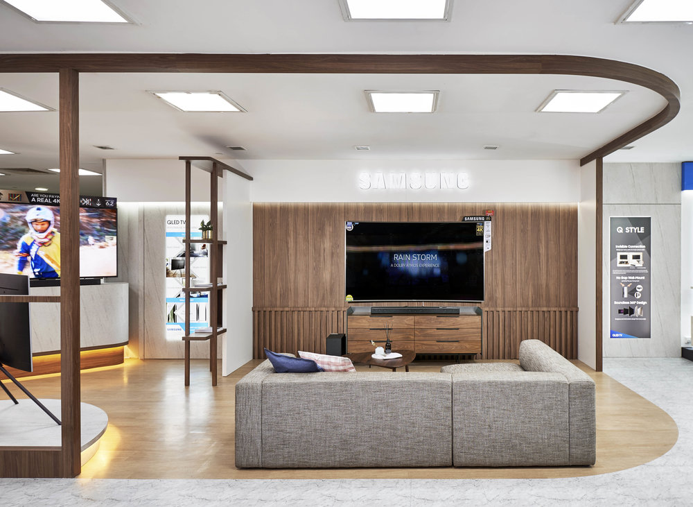 LINEAR 6 DRAWER DRESSER (AS TV CONSOLE) & VERISHRON 3-SEATER W/ CHAISE SOFA FROM  COMMUNE