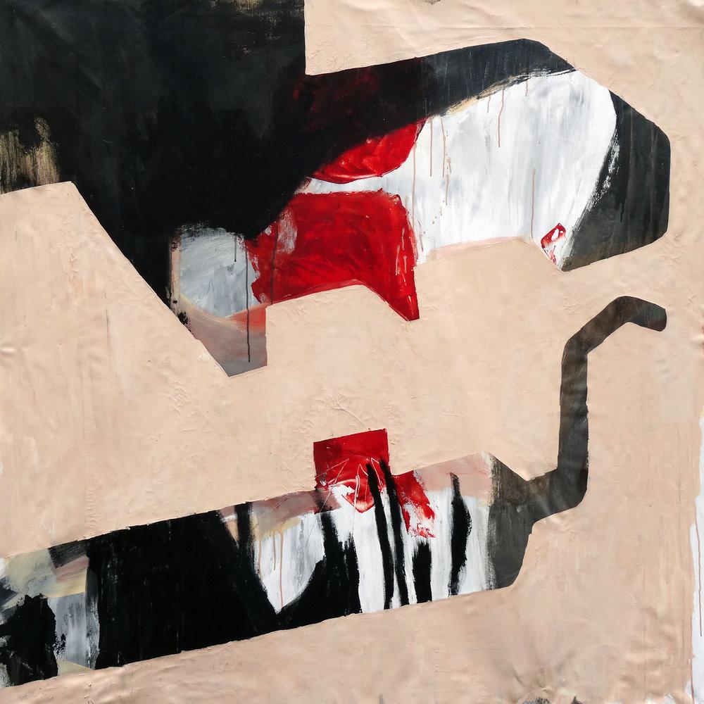 Escape , 2016  , 140 x 140 cm Acrylic on canvas