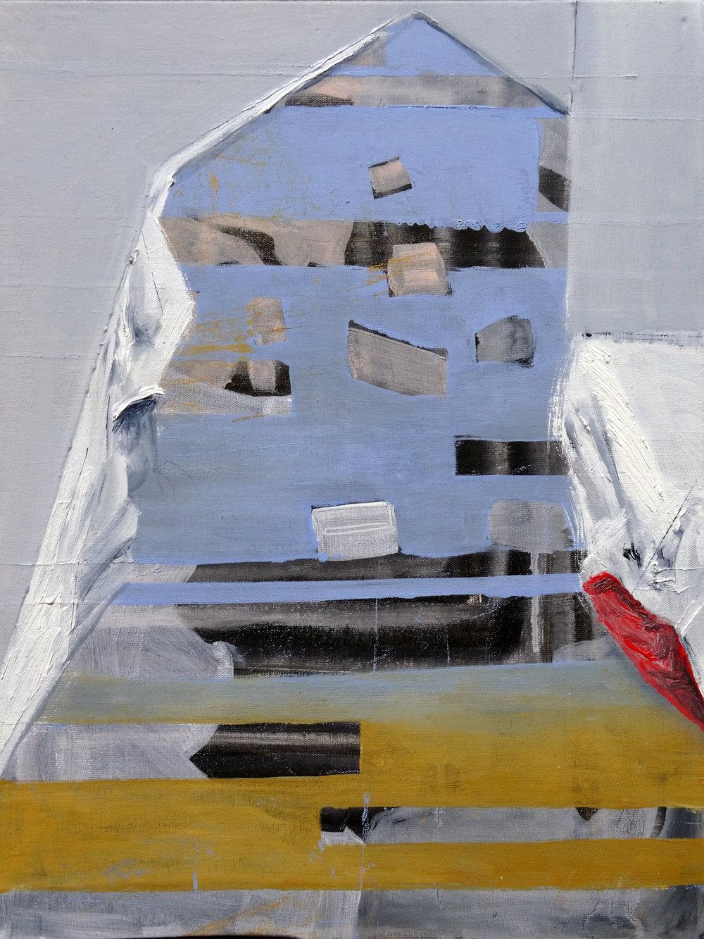 Banner , 2016 , 40 x 30 cm Oil on canvas