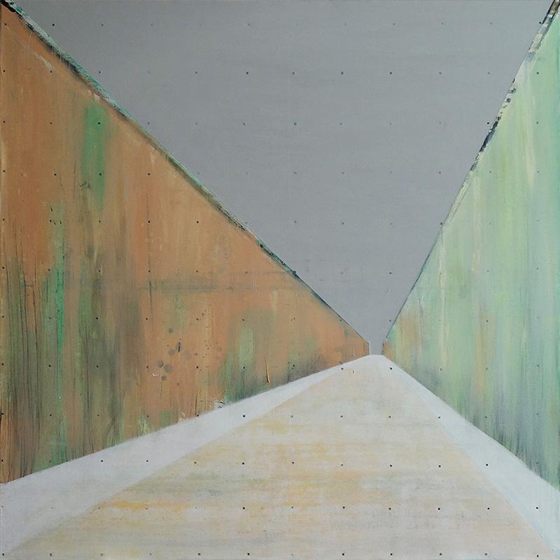 Vista pro Mar, 140x140cm oil on canvas. $ 4,200