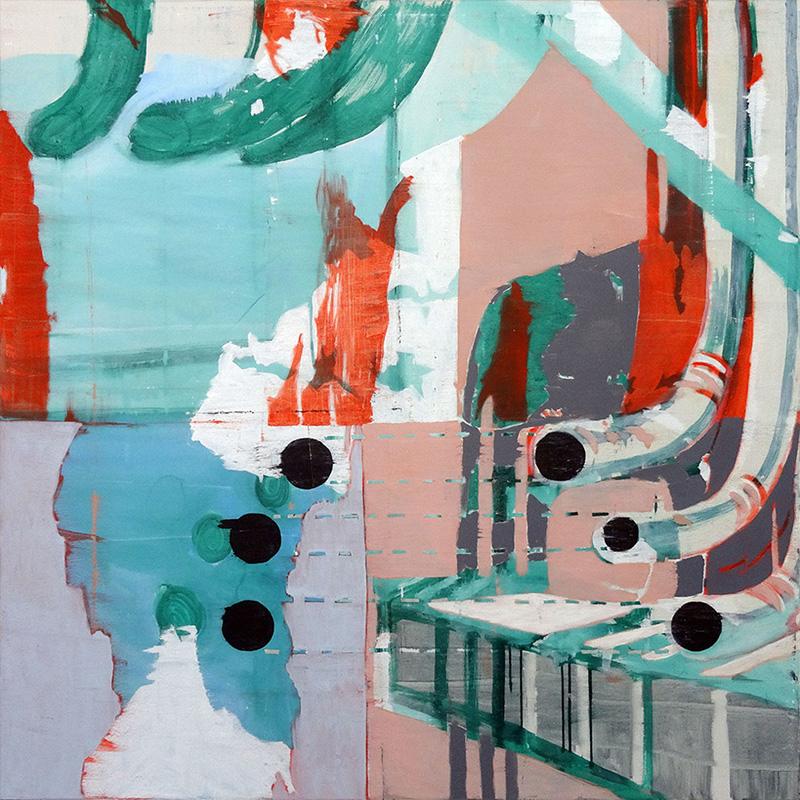 Kukaskal, 140x140cm oil on canvas. $ 4,200