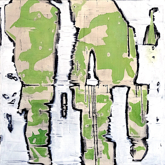 Desumanos, 140x140cm oil on canvas. $ 4,200