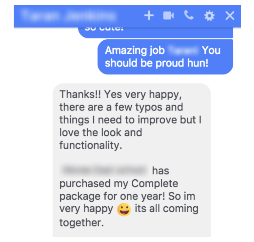 Her 'one year package'? It's priced at $41,500 and she sold it in one conversation... - Prior to working with me, my client Taran was selling yoga classes by the hour and struggling to fill her luxury retreats. Now she's making enormous money-months in her business by maximising her talents & cashing-in on a new business model.Her retreats are now fully booked plus she's delivering yoga programs in Australian schools!