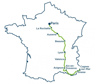 The France Electric Tour 2016 route