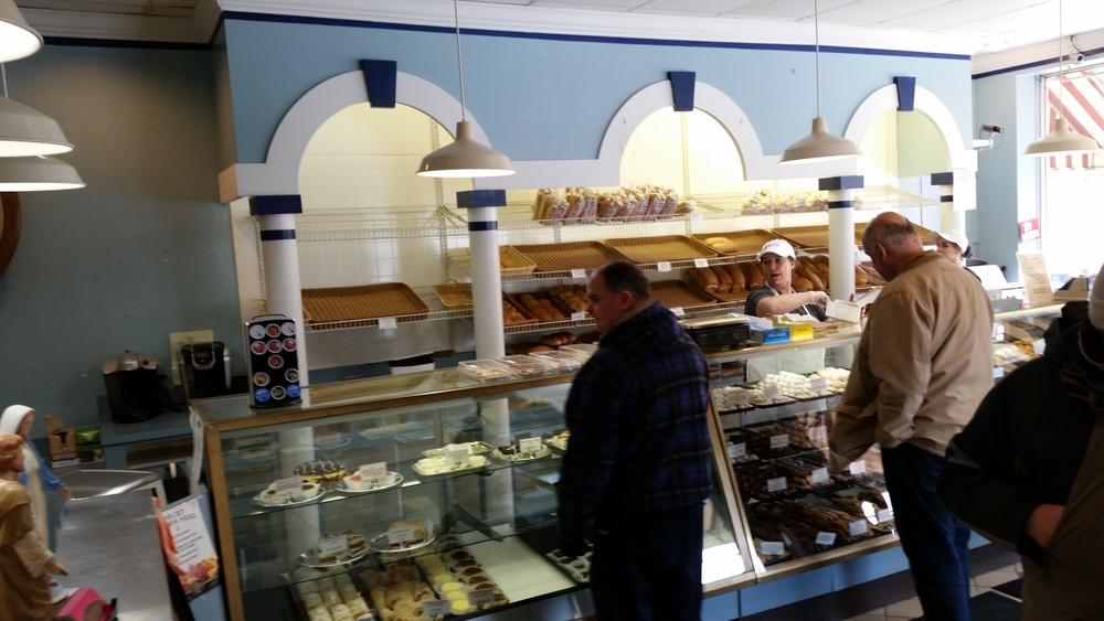Prior to remodeling, Peter Sciortino's Bakery was known for their blue arches
