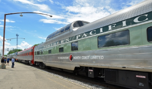 Built as dome-coach in 1954 by the Budd Company, the car originally was in service on the Northern Pacific's premier train, the Chicago-to-Seattle  North Coast Limited . It later operated throughout the country in Amtrak service from 1971-1995 before being sold into private ownership and briefly leased to the Grand Canyon Railway, where it bore the name Kokopelli. In the late 1990s, the car was converted from a dome-coach to a dome-sleeper, and operated in excursion and charter service out of Cincinnati for over a decade under the name  Observatory . Paxrail acquired the car in 2015 and named it  Stampede Pass .