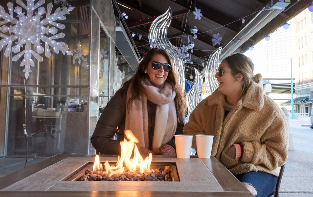 Just because it is chilly doesn't mean you can't chillax outdoors in Milwaukee at an ice bar along Broadway Street, while sipping coffee in Red Arrow Park, or while eating appetizers in a Lux Dome in the Historic Third Ward.