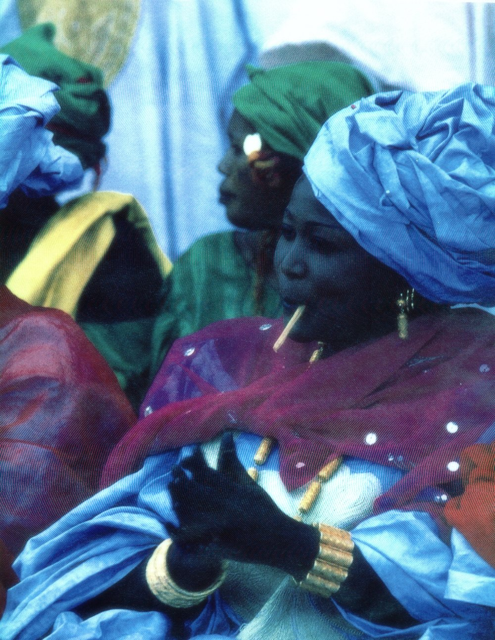 Image of Senegalese Women Adorned at a Community Celebration