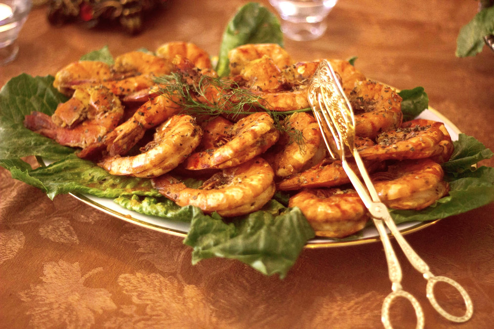 Mariby Corpening's Always Popular Lemon & Fresh Dill Broiled Shrimp
