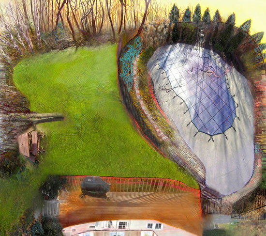 Yard, 2004, 27 x 24 inches, Edition of 3, Archival digital print on paper