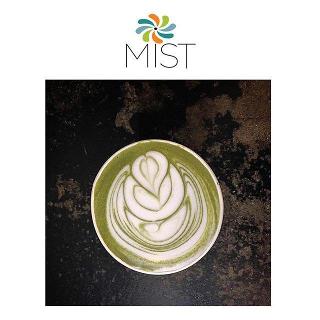 Stop by our #MISTCafe & grab your Green Tea Matcha Latte #latteart #greentea #matcha #latte #breakfast #MISTHarlem #Harlem #NYC #Drink #HotDrink