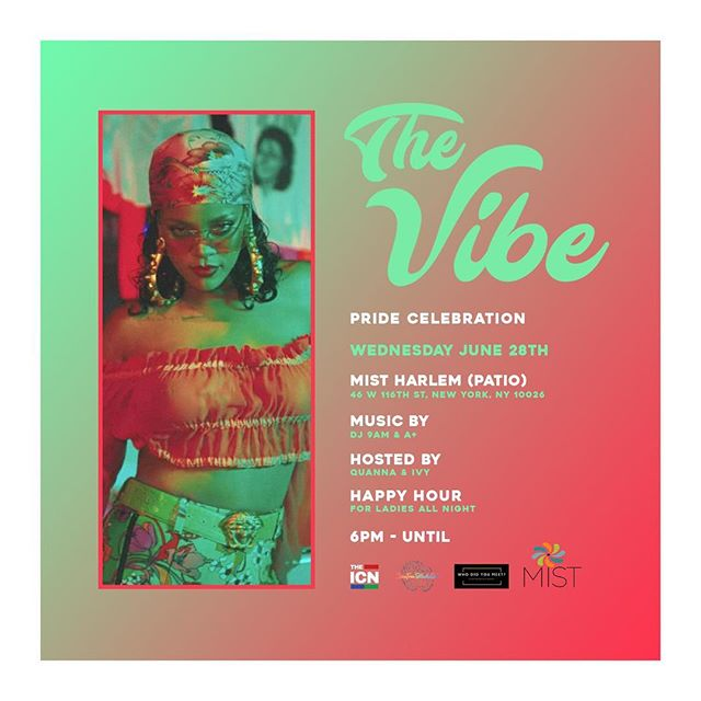 Come and network with the ladies from @carefreeblackgirl_inc this Wednesday 🥂🍸🍹 Music by @dj9am #MISTHarlem #TheVibe #Music #DJ #GoodTime #Network #Live #Food #Cocktails #Drinks #Food #Vibe #Podcast
