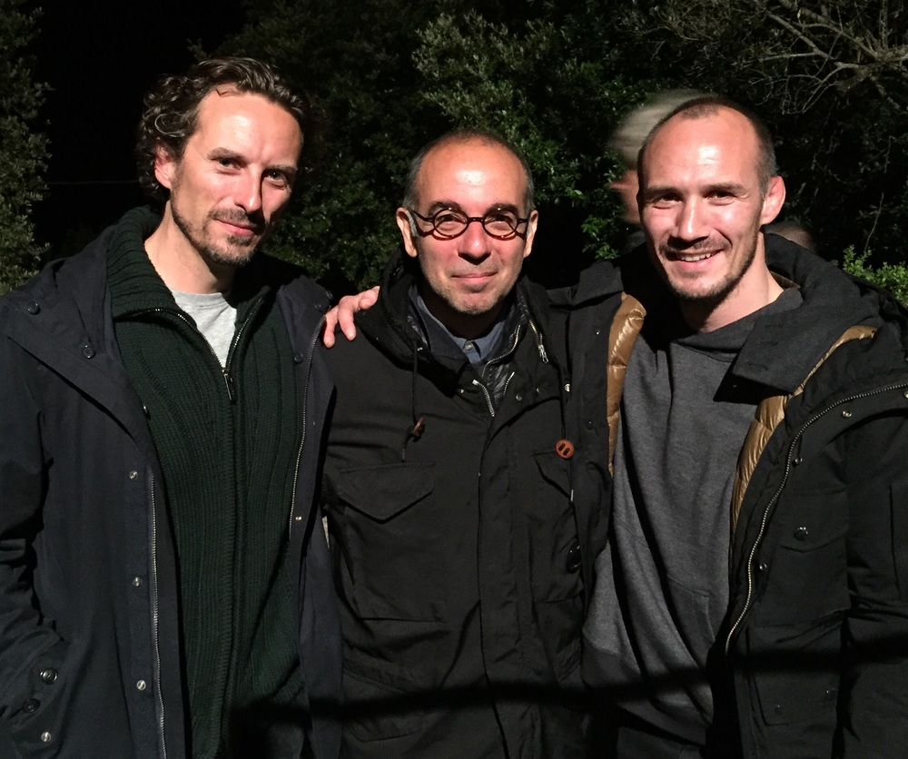 Director Giuseppe Tornatore, Actor James Warren and I