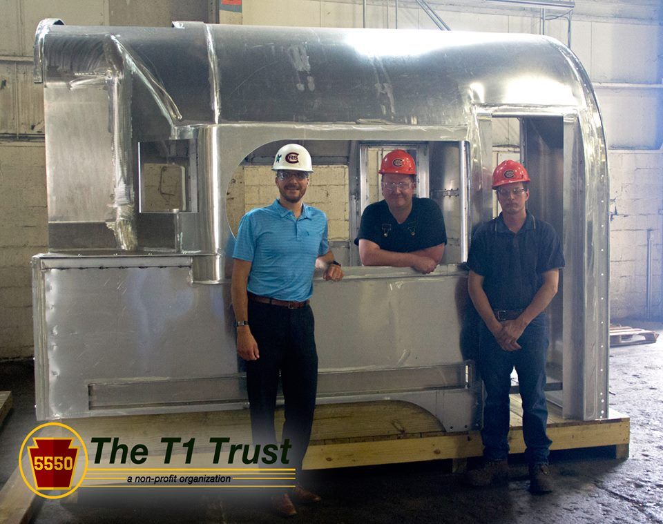 gemini project managed the engineering and construction of the brand new streamlined cab for PRR T1 #5550