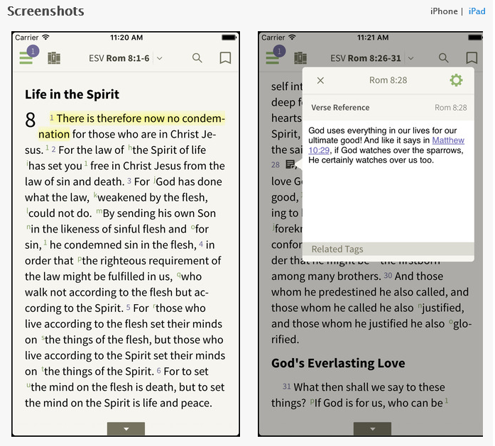Once you've downloaded it and created an account (all for free!) then you can download a reading plan and get started.  But which reading plan should you use? The one that you think you'll stick with!  There's a good number available at olivetree.com some will take you through the Bible once in a year, others will take longer, others will take you through the Bible more than once in a year.  I'm planning to use   Murray McCheyne's   plan in 2016 and hopefully will be writing some thoughts on the readings here.  The plan takes you through the NT and Psalms twice in the year, and the rest of the OT once. It suggests some of the passages to be read on your own, and others to read with others.   If you prefer something lighter, then the   5x5x5   is excellent:  5 minutes a day, 5 days a week, will take you through the NT in a year.  Have a look around to see what you think would be good for you, the important thing is to find something that you think would be helpful for you. You'll find more here:  http://www.ligonier.org/blog/bible-reading-plans/  http://about.esvbible.org/resources/reading/  And if you really want to stretch yourself, then try  10 chapters a day!   Any other ideas?