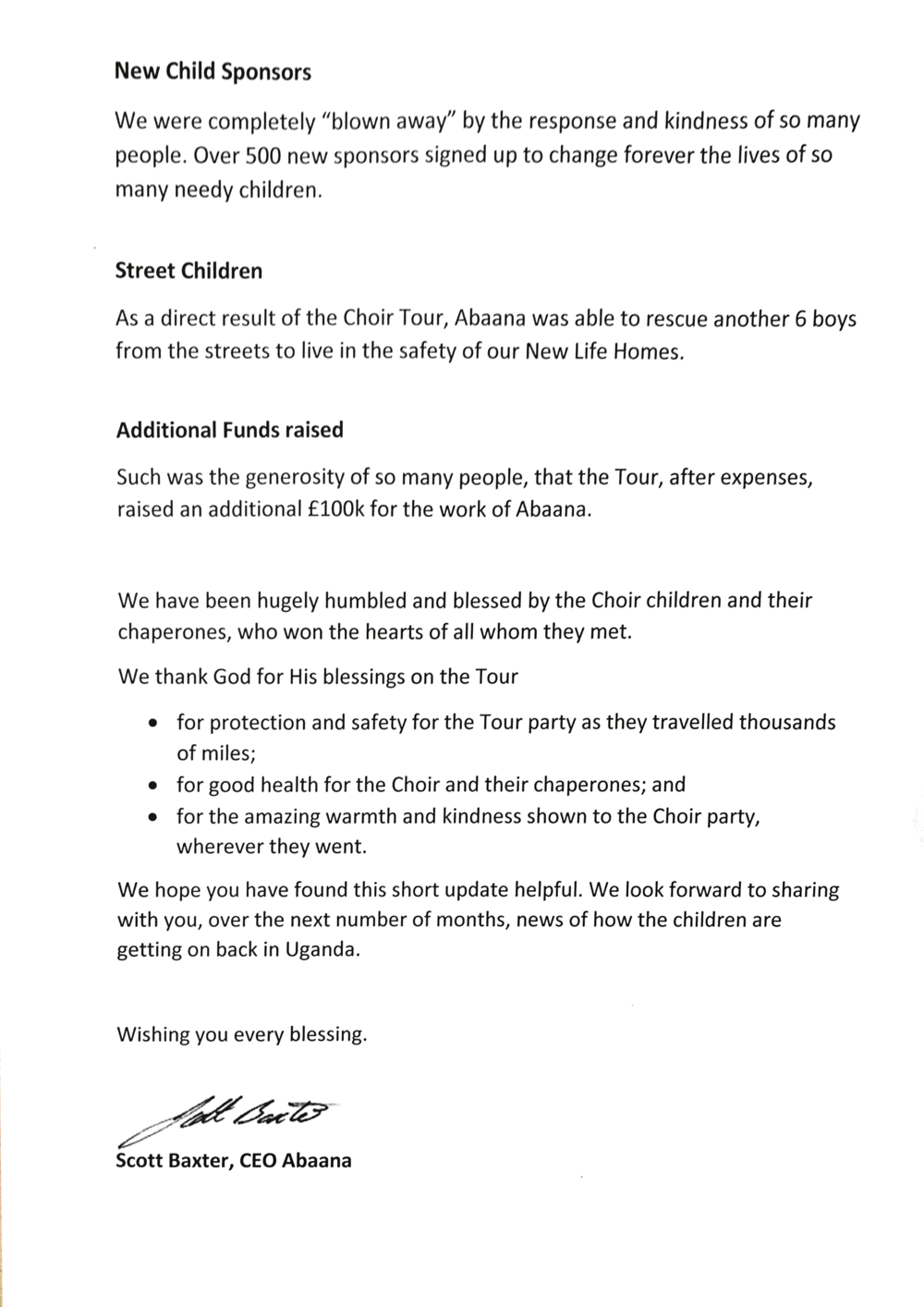 abaana update drung larah redhills church