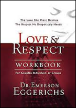 """Love and Respect"" This was the recommended book from our marriage enrichment course.     You can buy new it   here.   Or look on Amazon for a cheaper second hand copy!"