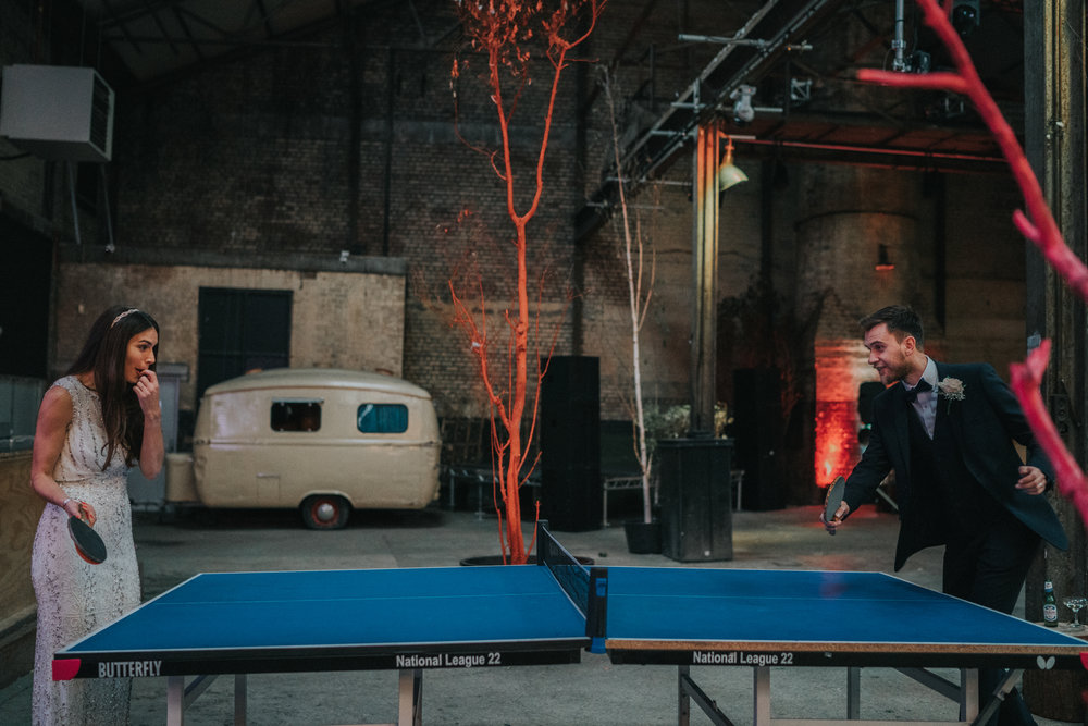 NUMBER #9.  PING PONG //  This wedding was a special one as I worked with the groom Sam at Apple back in the day.  Their stunning wedding was on the same day as Hurricane Brian so we improvised and played table tennis while we waited for the rain to stop!