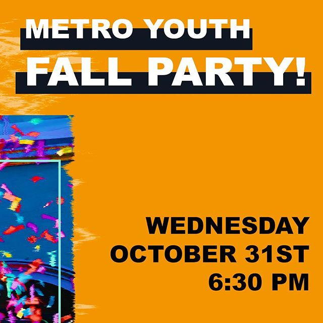 This Wednesday! Come dressed up with your favorite costume! (Nothing scary/horror) 🎉Games 🎉Pizza and Candy 🎉Costume Contest It's going to be a blast and we hope to see you there!