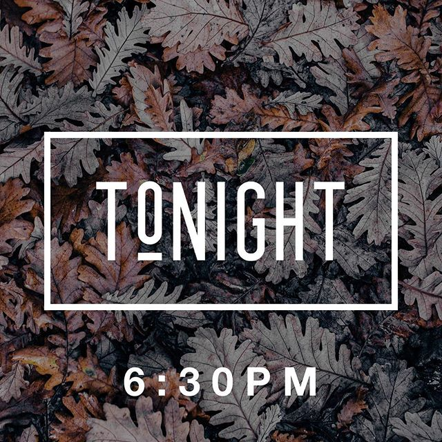 \ T O N I G H T /  Come hangout with us tonight at 6:30PM! Grab all your friends and get ready for a fun night! We'll see you soon 👊🏼