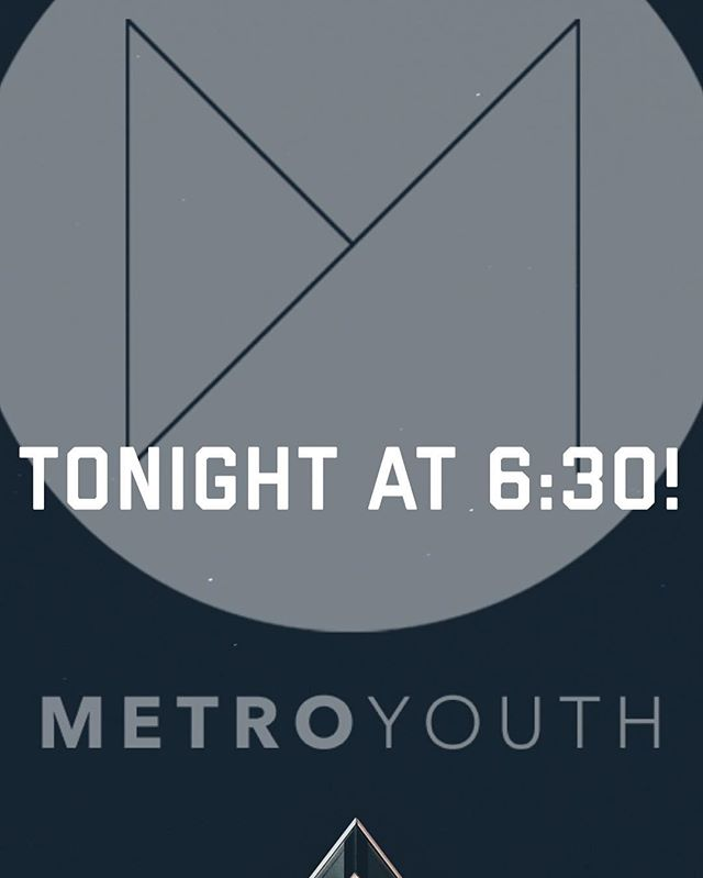 Service is tonight! We can't wait to see you and all your friends.