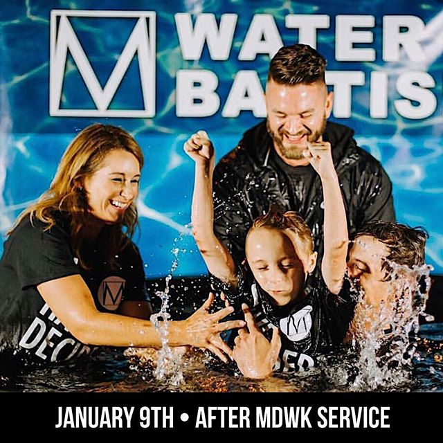 Parents,  Don't forget water baptism will take place immediately following our Wednesday night service.  Anyone interested in getting baptized will be baptized, this includes your kids.  There will be food and drinks served, so even if you aren't getting baptized we'd love to have you stay and watch. If you'd like to sign up go on to @mlclafayette's page and sign up.