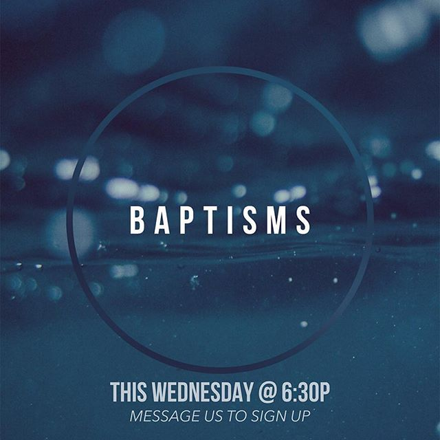 Parents,  Don't forget we will be having water baptism this Wednesday night.  Anyone interested in getting baptized will be baptized, this includes your kids.  If you'd like to sign up go on to @mlclafayette's page and sign up.