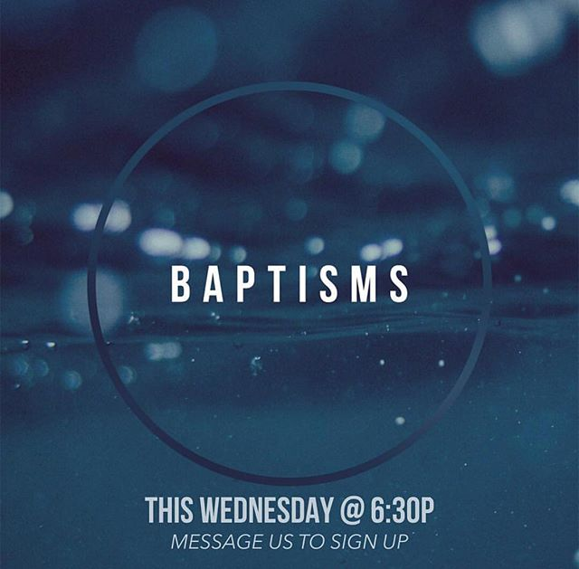 T O N I G H T -  6 : 3 0 P M  We can't wait to see YOU! We will be having water baptisms during service, comment below if you'd like to participate. It's going to be an AMAZING night!
