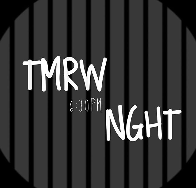 You don't want to miss tomorrow night at 6:30PM! It's gonna be a blast! Tag a friend you want to come! 🎉  DM us if you need a ride.