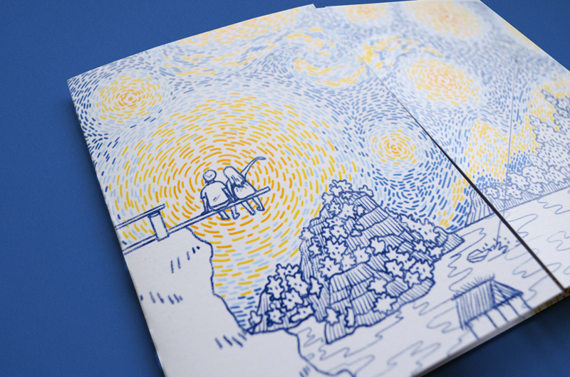 starry night wedding invitation — mark dingo francisco, Wedding invitations