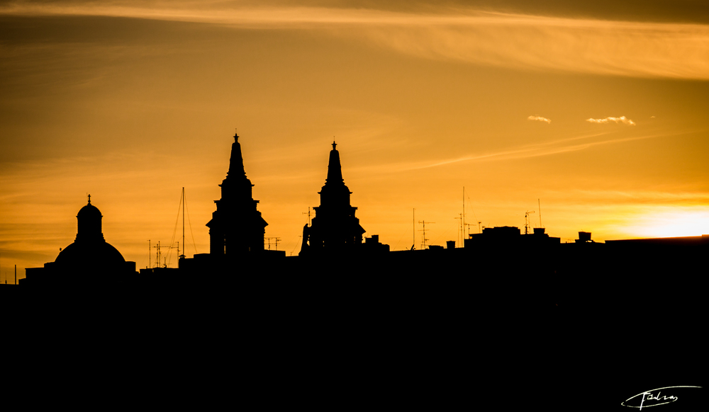 Malta Church Silhouette Photography