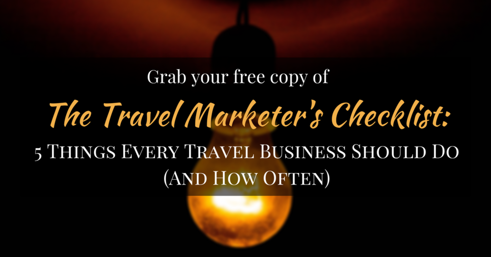 45 Degrees Marketing Travel Marketer's Checklist