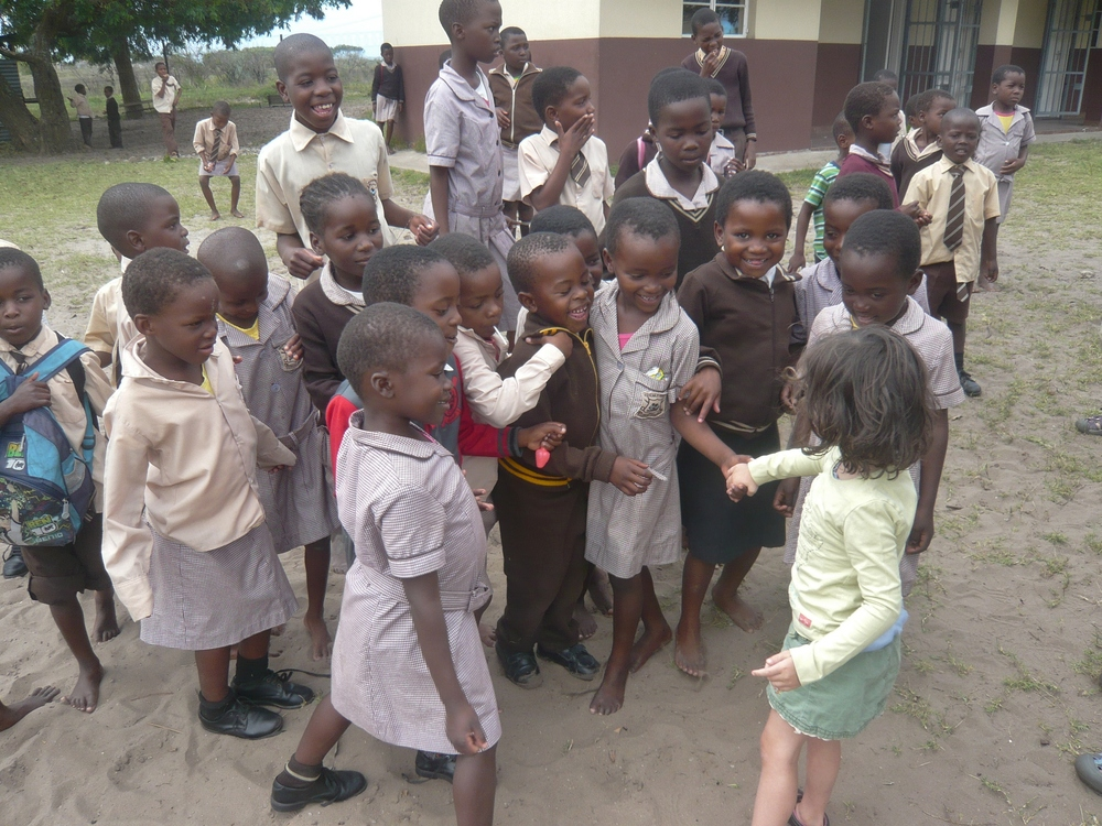 Kya visiting a school.